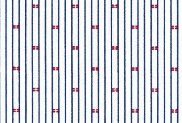 Popline darkblue red patterned