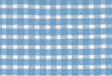 Linen light blue checkered
