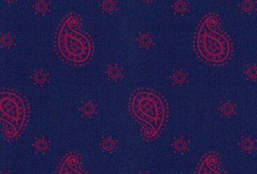 Darkblue Red Paisley