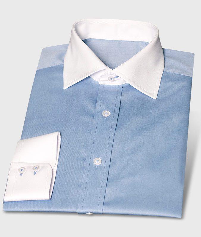 Pflegeleichtes günstiges Businesshemd Blau