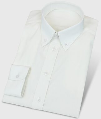 Freizeithemd in Vanille Creme mit Buttondown