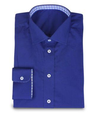 Sportliches Freizeithemd in kräftigem Blau und Vichykaro