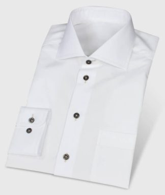 Easy-Care Shirt with Dark Buttons