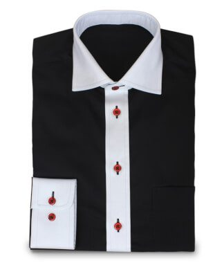 Exceptional Shirt With Red Buttons