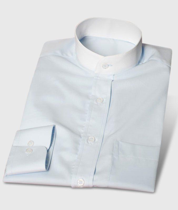 Ungewöhnliches Businesshemd hellblau bügelfrei