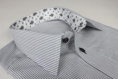 Freizeithemd liniert mit Musterstoff