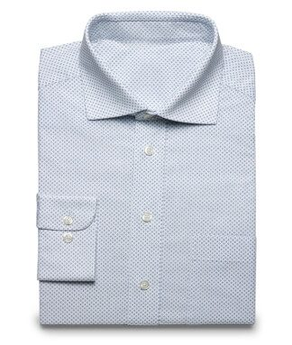 Blue dotted business or traditional dress shirt