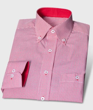 Small checked red shirt with special inner colors