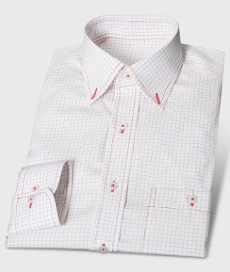 Rot-kariertes Button-Down-Hemd