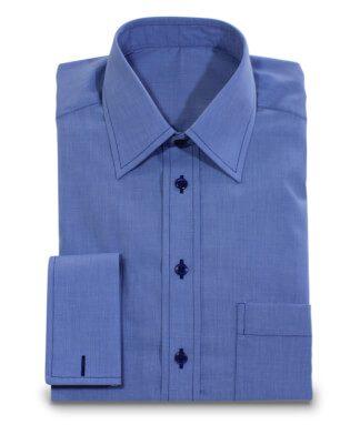 Kent-Kragen-Hemd blau