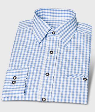 Trachten Shirt Blue Checkered