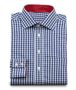 Dark blue checkered casual shirt