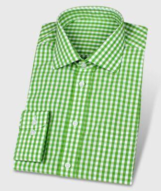Legeres Karo-Hemd grün