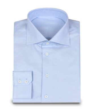 Shark Collar Shirt in Oxford Light Blue
