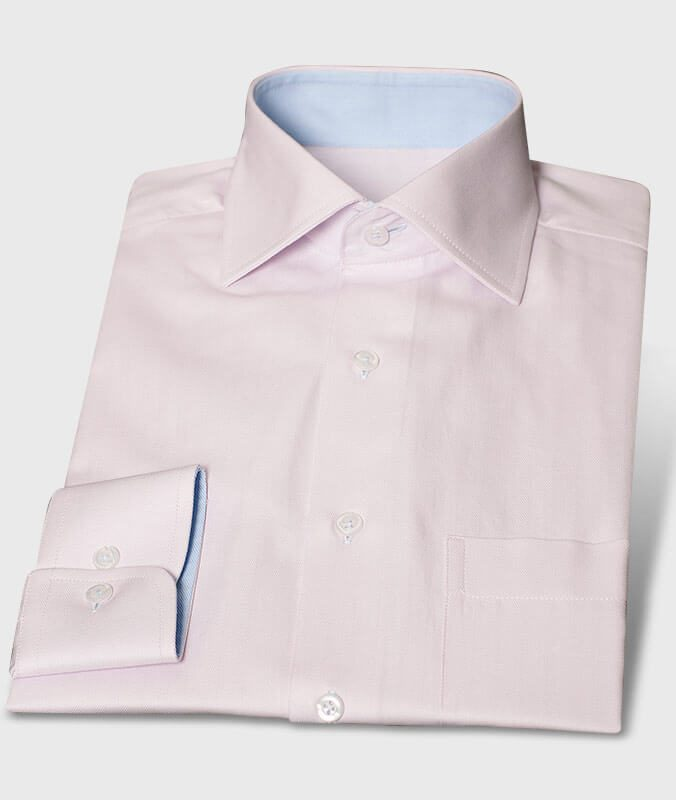 Herringbone Shirt Lightblue Inside