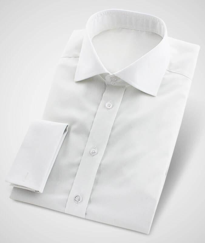 Weißes Businesshemd knitterarm bügelfrei