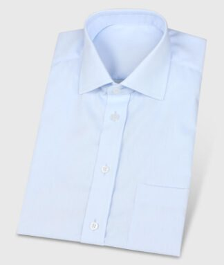 Lightblue Tailor Made Shirt Short Sleeves Wrinkle Free