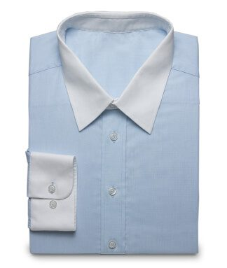 Classic shirt in elegant light blue