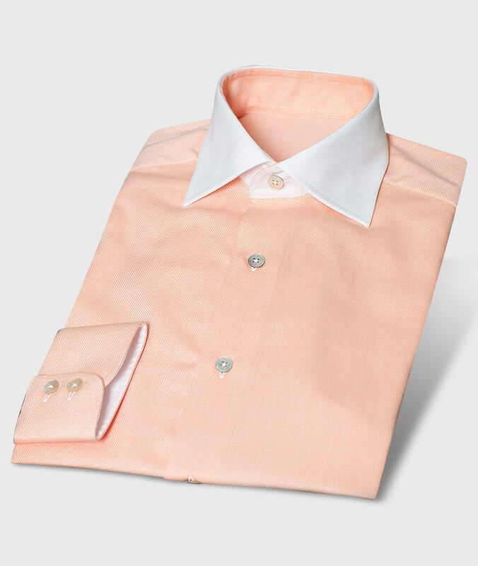 release date numerousinvariety buy Colored Business Shirt Royal Oxford Apricot