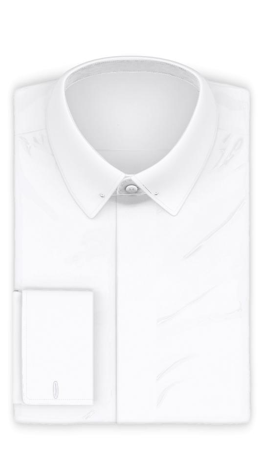 Vollzwirn Weiß knitterfrei Festliches Hemd