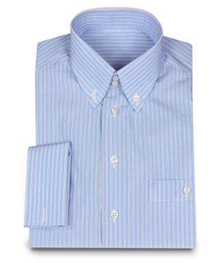 Button-Down Shirt Lightblue Stripes
