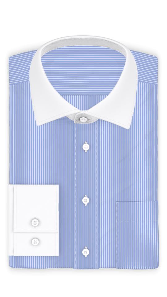 Blau Weiß gestreift Businesshemd