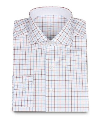 Oxford Shirt Checkered with Double Button Collar