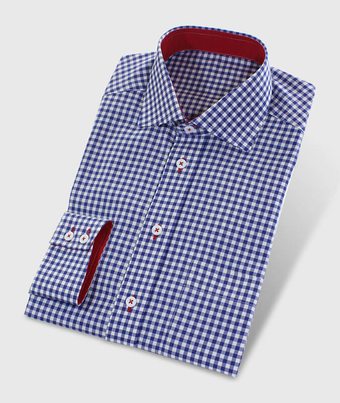 Casual Shirt Red Blue