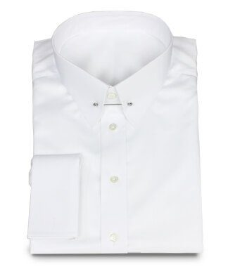 Festive shirt white with Picadilly collar