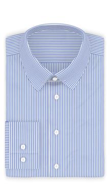 Popeline Hellblau gestreift Festliches Hemd