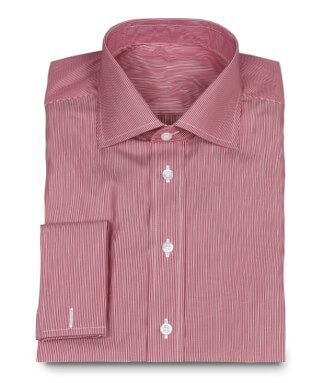 Exclusive Business Shirt 2-ply Red White Stripes