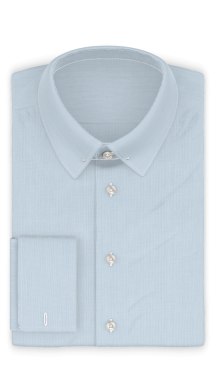 Vollzwirn Twill Hellblau Businesshemd