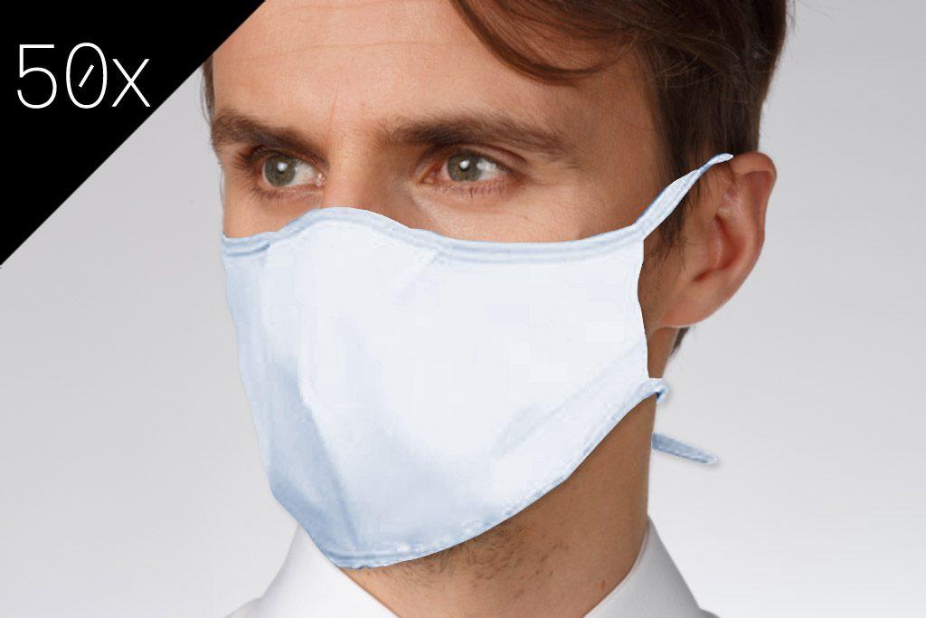 50x Face Mask Hellblau (Großpackung)