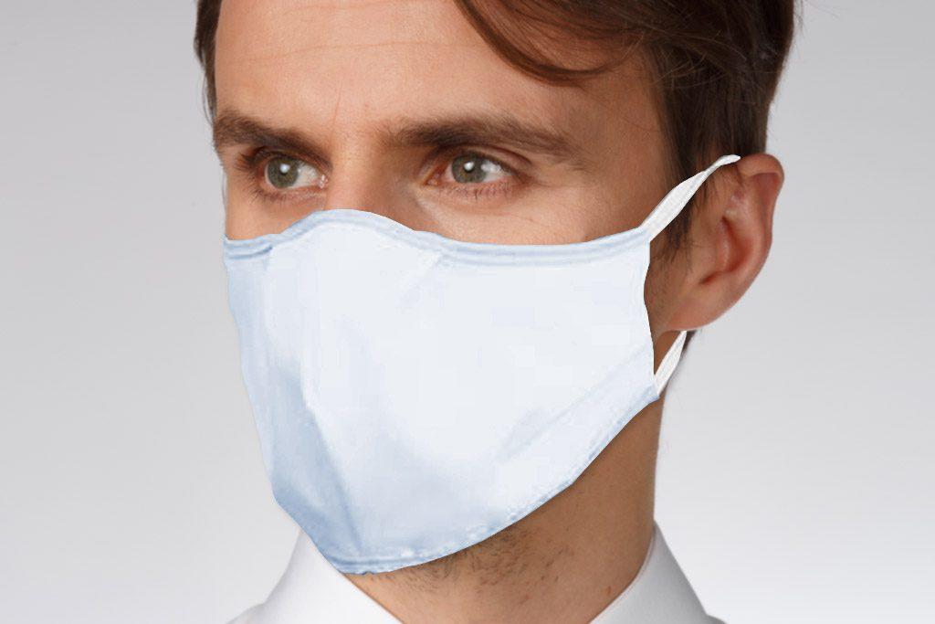 Face Mask Hellblau Gummiband