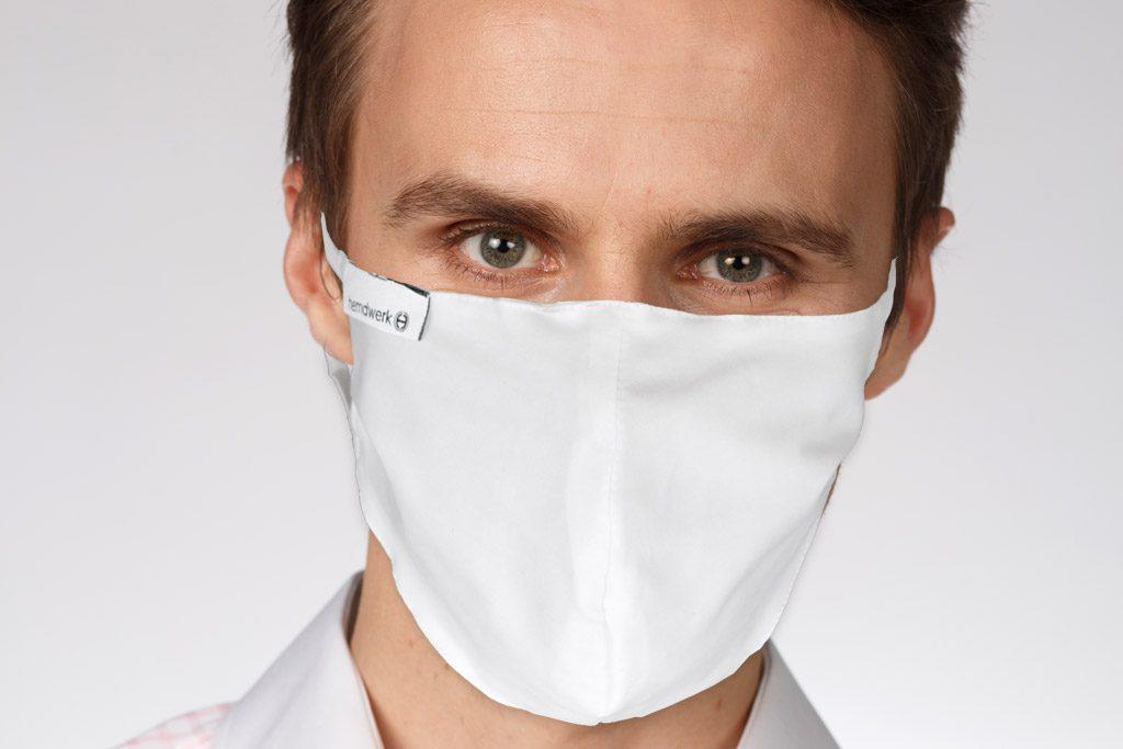 Mund-Nasen-Maske Style Weiß M